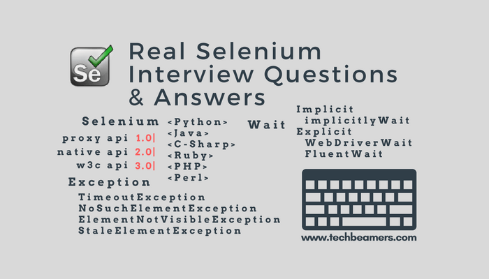 Selenium Interview Questions And Answers Asked By Top Companies