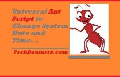 Ant script to change system date and time on Windows and Linux.