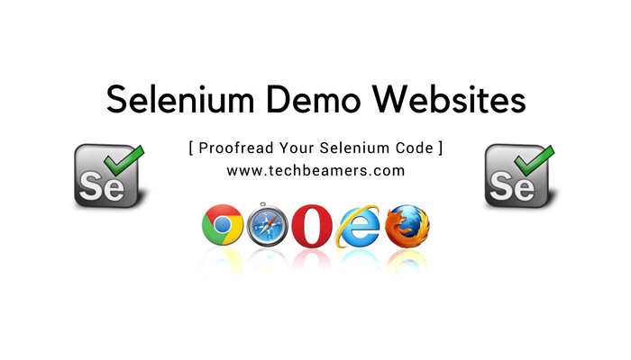 Demo websites to practice Selenium webdriver online