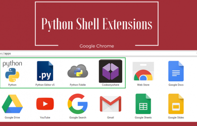 Chrome Python Shell Extensions