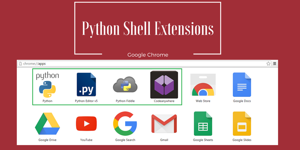 5 Must Have Chrome Python Shell Extensions