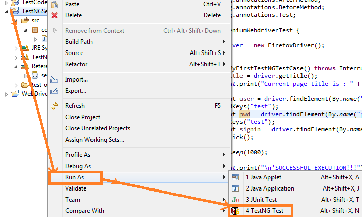 How to Run the TestNG Test Case