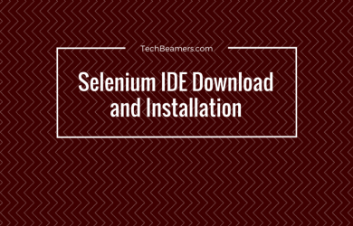 Selenium IDE Download and Installation