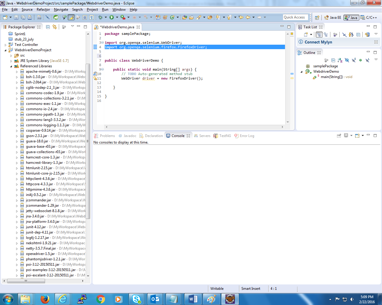 Setup Selenium WebDriver Project Using the Eclipse IDE