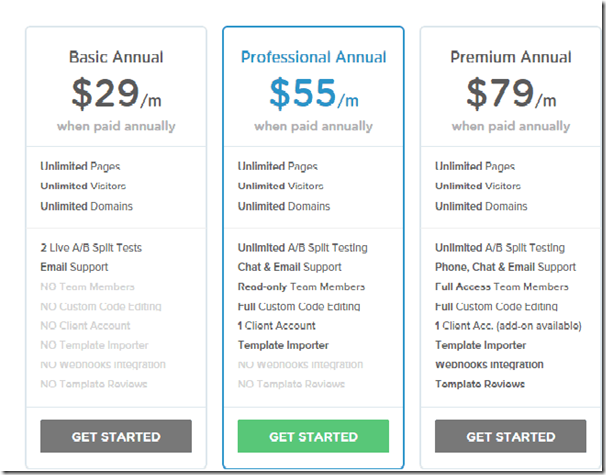Check out the InstaPage Pricing Summary.