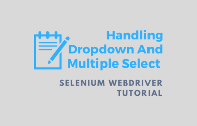 Handling DropDown And Multiple Select Operations in Webdriver