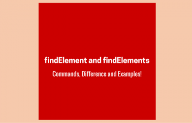 findElement and findElements Commands and Examples