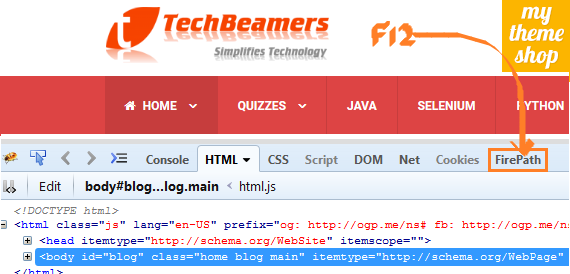 how to use firebug to find xpath