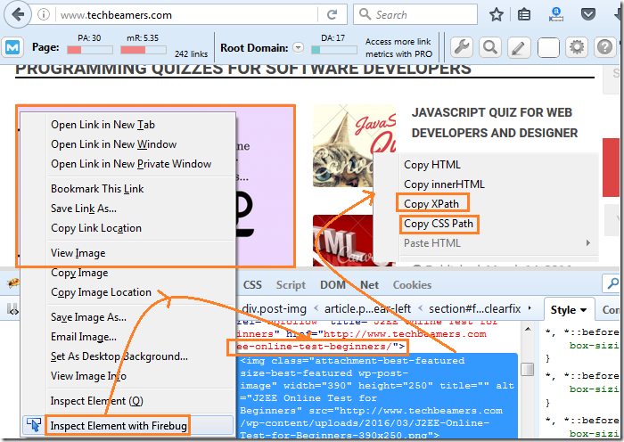 How to Install and Use FireBug and FirePath in FireFox