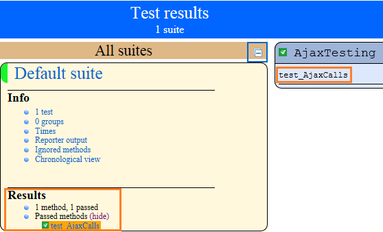 Test Report - Handle AJAX Calls Using Selenium Webdriver