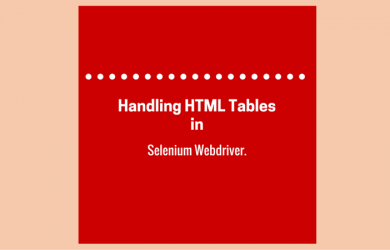 Handling HTML Tables in Selenium Webdriver