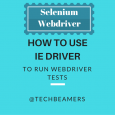 How to Use Internet Explorer Driver to Run Webdriver Tests