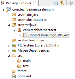 Running Webdriver Tests Using Maven - Create a Test Class