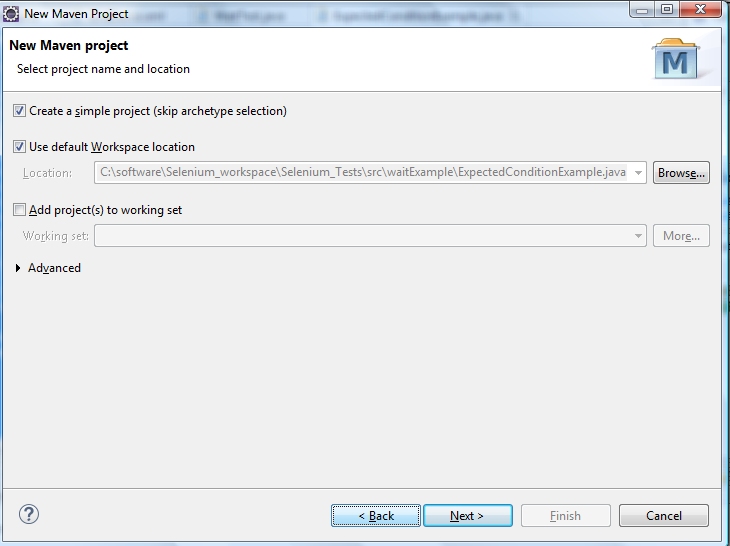 Running Webdriver Tests Using Maven - Save Project