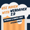 running webdriver tests using maven