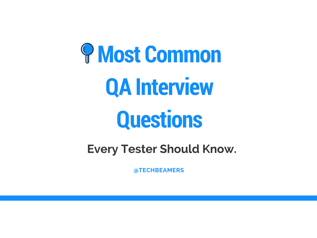 TechBeamers  Common Interview Questions