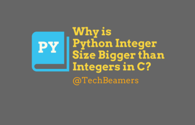 Python Integer Size Bigger than Integers in C