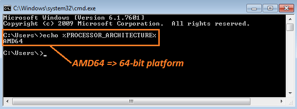 Use Env to Check if Windows is 32-bit or 64-bit.