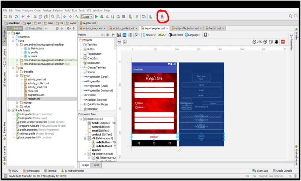 Genymotion Emulator for Android Studio.