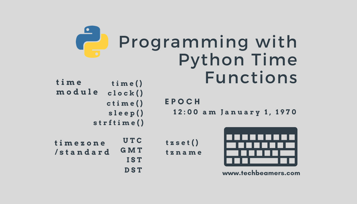 Get Started with Python Time Module & Functions