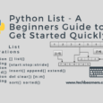Python List - A Beginners Guide to Get Started Quickly