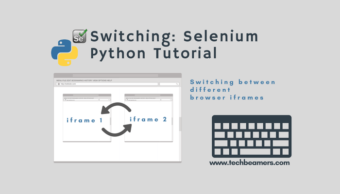 Switch Between IFrames Using Selenium with Python