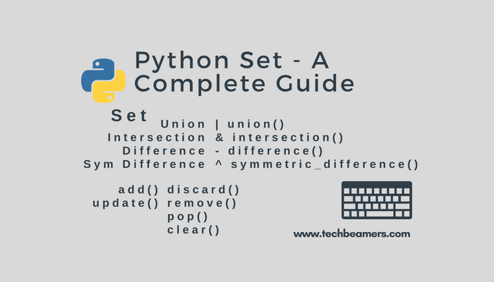 Python Set - A Complete Guide to Get Started