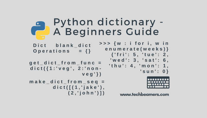 Python dictionary - A Beginners Guide