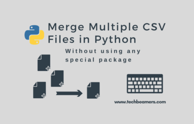Merge Multiple CSV Files in Python