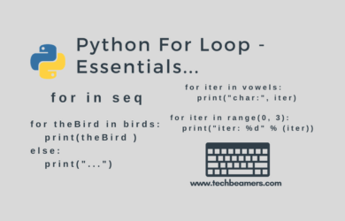 Python for loop, syntax and examples