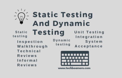 Static Testing And Dynamic Testing