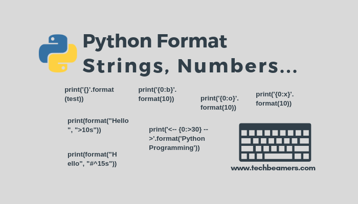 Python Format How Format Strings Numbers List And Dict
