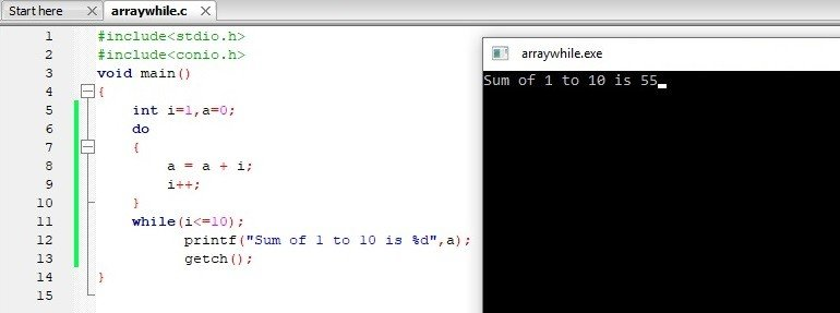C Do While Loop Program Output