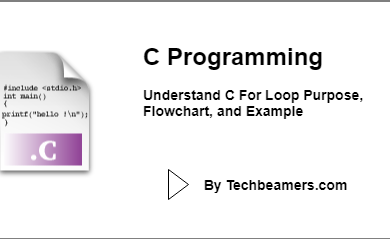 C For Loop Purpose, Flowchart, and Example