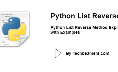 Python List Reverse Method Explained with Examples