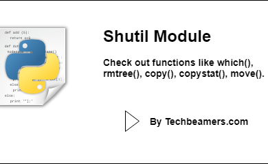 Python Shutil Module with Examples