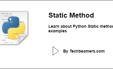 Python Static method with examples