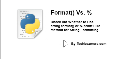 Format or percentage for string formatting in Python